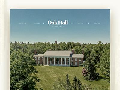 Oak Hall Estate — Home oak hall website cover maine northport mansion estate