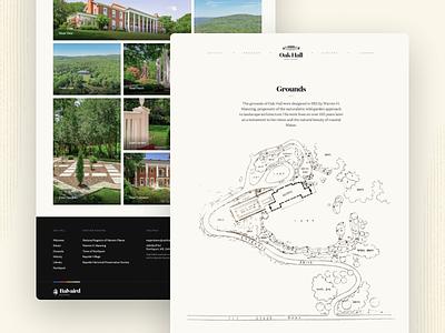 Oak Hall Estate — Grounds website editorial gallery blueprints grounds maine northport mansion estate oak hall