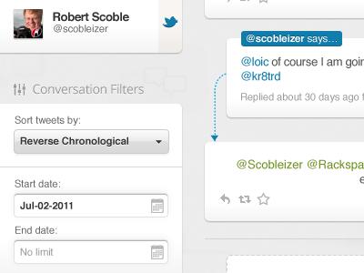 Filters & Tweets bettween twitter trends @ mentions search track conversation conversations filters calendar