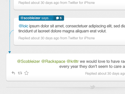 In-Reply-To bettween twitter trends @ mentions search track conversation conversations reply replies