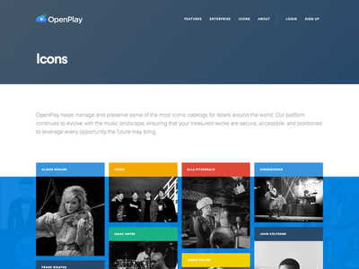 Featured Artists — OpenPlay / Icons masonry music pinterest quote gallery photo rainbow grid icons