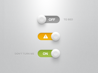 Buttons, Lights & Shadows buttons ui shadows warning icons lights noise texture orange green grey switch switches toggle freebies photoshop psd freebie