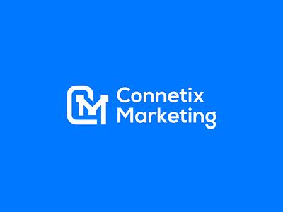 Connetix Marketing Logo brand identity branding logotype creative text logo monogram typography design logo graphic design