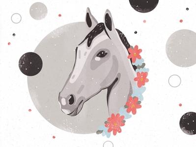 horse procreate illustration ipadpro animal artwork art digital illustration digital procreate illustration horse