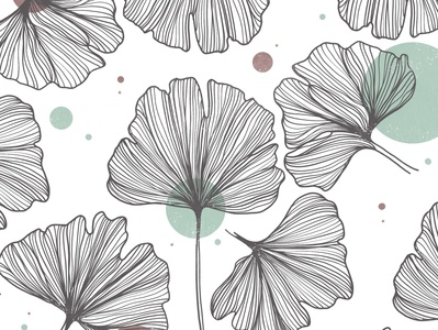 ginkgo procreate art illustration leaf ginkgo
