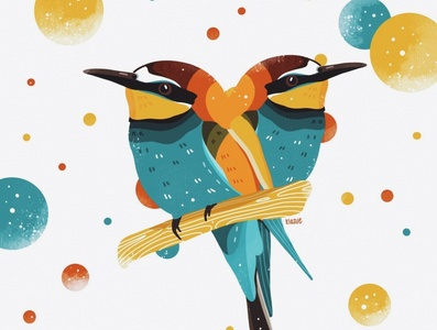 bienenfresser ipad drawing ipad pro procreate illustration procreate art illustration digital kiasue colorful nature birds bird procreate illustration drawing
