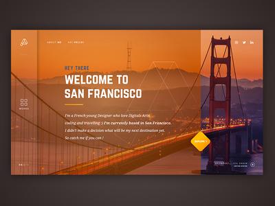 Portfolio Concept - Digital Nomad navigation loading design material page transition ux ui portfolio