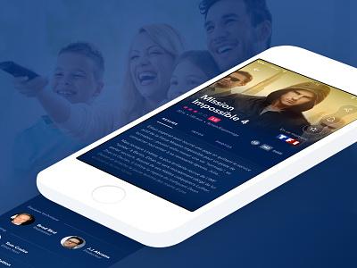 Keoli TV - iOS app concept study case portfolio blur blue design ux ui mobile app ios