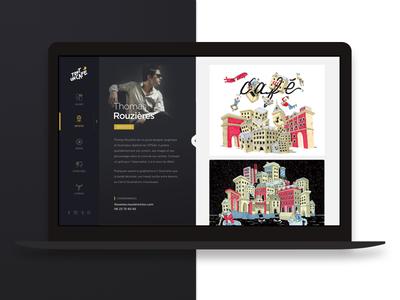 Tout un café - Redesign design ux ui white black menu side bio portfolio redesign