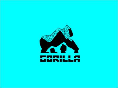 Gorilla Animal Logo flat logo design flat logo graphic design idenity letter logo branding creative minimalistic flatdesign flat design flat minimalist logo minimalism minimalist minimal gorilla logo gorilla