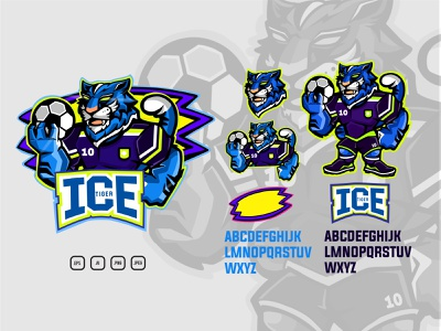 Esports Ice Tiger parts vector goal twitchemote twitch logo branding design design logodesign esport