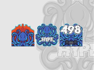 "Custom Emote Twitch blue octopus theme""s component gamer logo marine aquaman character logos fish ocean life sea blue cracken octopuss octopus logo youngstudio fiverrgigs emotes for twitch emoteart twitch logo custom logo"