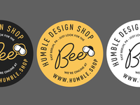 Circular Bees-oning humble bee icon illustration branding mark vector logo brand design
