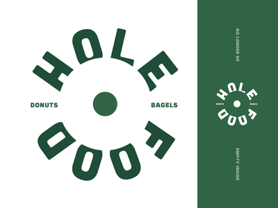 Empty Inside dribbleweeklywarmup dribbble weeklywarmup bagels donuts bagel donut icon branding mark vector logo brand design