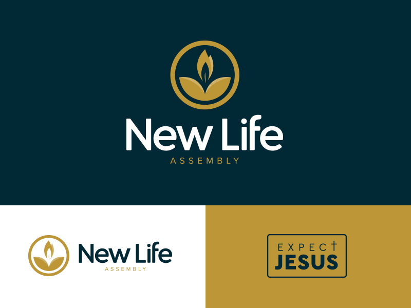 New Life Logos easter life church brand logo