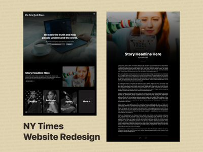 NY Times Website Redesign graphic design redesign website figma ui