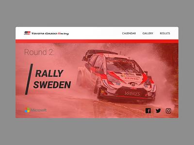 Toyota Gazoo WRC web design web uiux