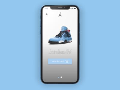 Jordan shoe App concept.