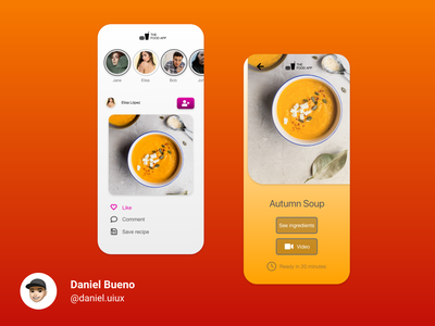 The Food App design app design ux design ux uiux ui design ui