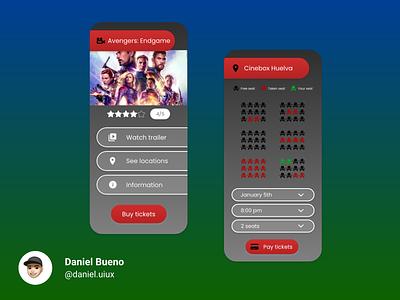 Cinema App app design ux design ux uiux ui ui design design