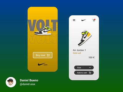 Nike Jordan 1 - Volt nike app app design design ux design ux uiux ui design ui