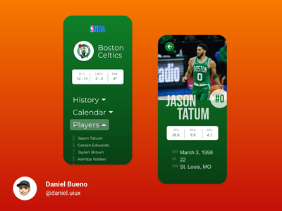 NBA App nba app design app ux design ux uiux ui design ui design