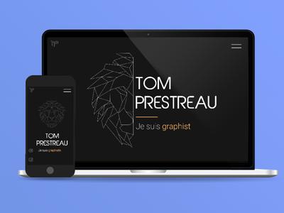 My personal website ! phone laptop landingpage landing graphic art webdesign mockup website design websites minimalist minimal vector web app ui branding icon graphisme design