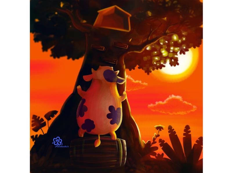 little cow 2 minimal art illustration design character animation