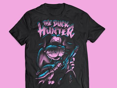 The Duck Hunter illustration nes duck hunter gamer retro t-shirt