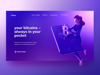 Bitapp Illustration crypto piechota illustration bitcoin vector isometric character landing landing page neon cryptocurrency ethereum