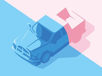 Ram Pickup isometric dodge pickup car wip shadows illustrator vector illustration