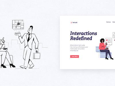 Interfaces: Kasablanka challenge character design character interface flat ui branding landing page landing design illustrator vector illustration