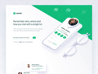 Contxt Landing Page branding 2.5d landing page animation landing design isometric illustrator vector illustration