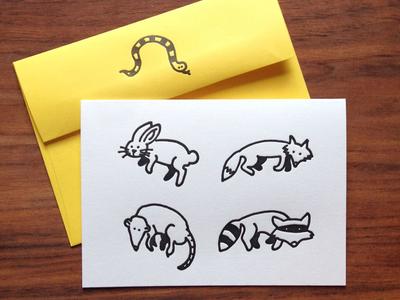 Forest Friends Letterpress Card