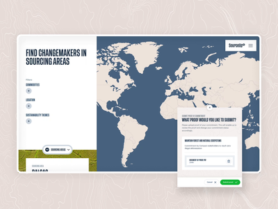 SourceUp | Homepage cards animation maps sustainable development sustainability homepage design filters globe logo map globe map motion motion design motion fluid motion web ux ui design