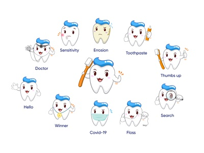 Oro - The Oral Care Mascott icon design iconography icon set design dental care dental icon vector illustration
