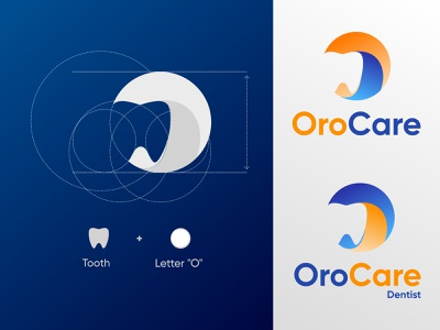OroCare - A dental service provider minimal vector design dental care dentist logo dental logo dental branding logo illustration