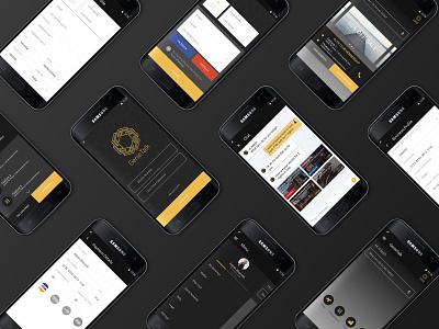 GenieTalk - AI based travel booking platform dark app design travel app travel minimal app ux ui design