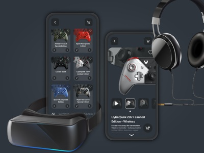 Gaming Controller e-commerce app gamers gaming game buy xboxone xbox ecommerce ui design uidesign ux app design ui illustration app design daily ui dark ui