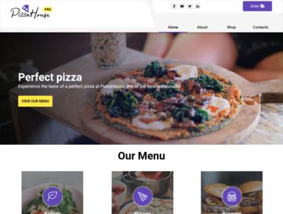 Pizza House - WebSite X5 Pro Theme