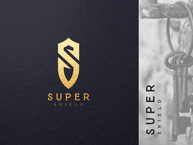 super shield 1 minimal flat vector ux ui logo icon design branding app