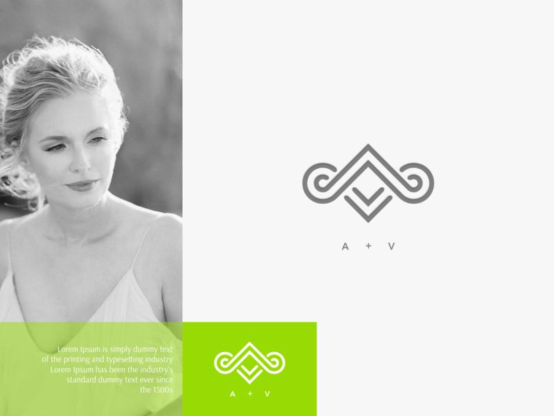 av minimal flat vector ux ui logo icon design branding app