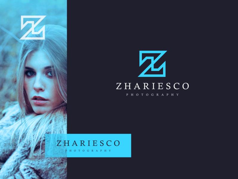 Zhariesco photography minimal flat vector ux ui logo icon design branding app