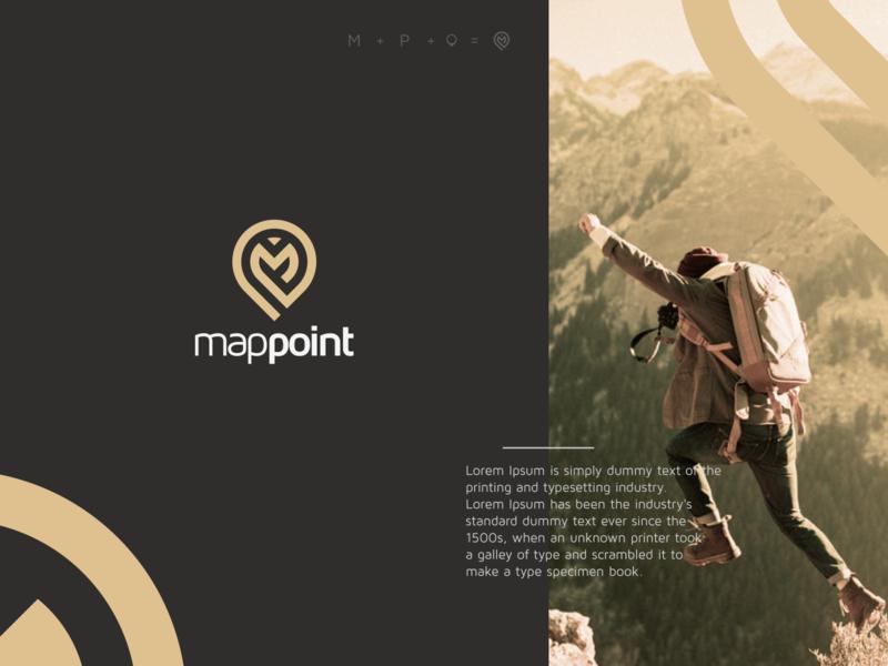map point minimal flat vector ux ui logo icon design branding app
