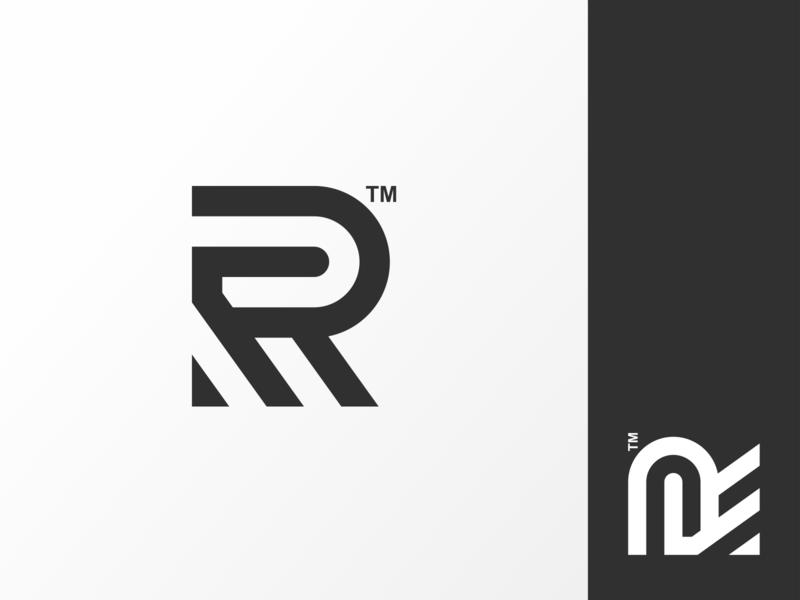 R logo mark web vector minimal flat ux ui logo icon design monogram logo branding app