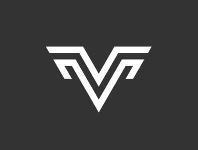 vm logo web vector minimal flat ux ui logo icon design branding app