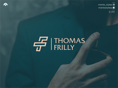 Thomas Frilly vector typography illustration app letter icon minimal logo design branding