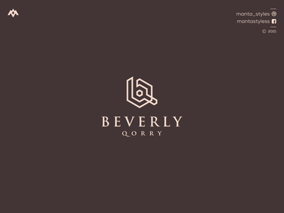 Beverly Qorry logomaker vector typography illustration app letter icon minimal logo design branding