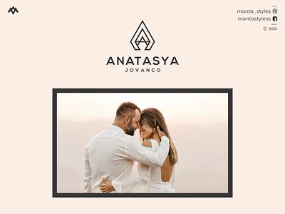 Anatasya Jovanco logomaker vector typography illustration app letter icon minimal logo design branding