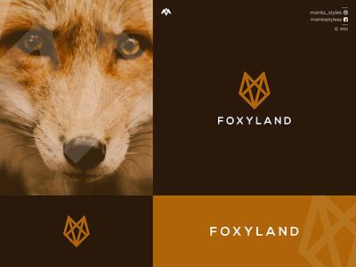 Foxland logomaker vector typography illustration app letter icon minimal logo design branding